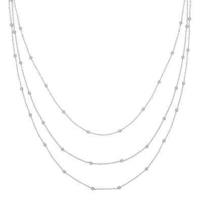 Ketting Layering Dots zilver zilveren drie dubbele kettingen setje bolletje necklages sieraden kopen