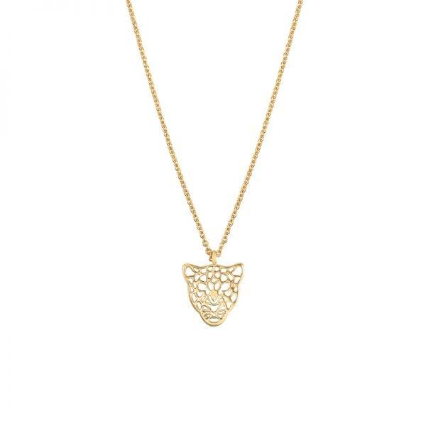 Ketting Panter Dreams goud gouden schakelketting dierenkop bedel trendy sieraden kopen