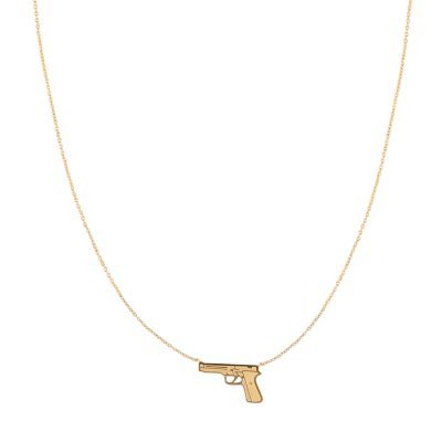Ketting Shoot To Kill goud gouden ketting pistoon gun bedel ketting necklages fashion kopen