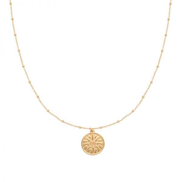 Ketting Sun Sign goud gouden kettingen munt bedel fashion kettingen necklages kopen