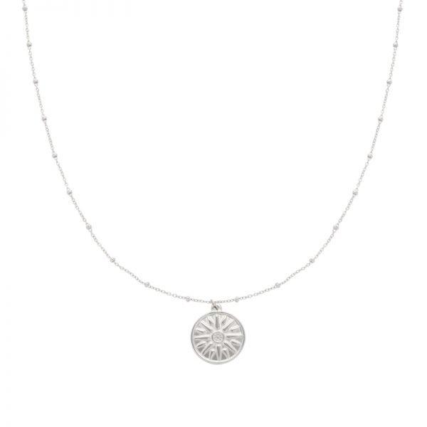 Ketting Sun Sign zilver zilveren kettingen munt bedel fashion kettingen necklages kopen