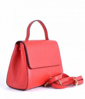 cabe4e0307e Leren Handtas Lena rood rode tassen giuliano dames luxe kantoortassen  fashionbags kopen