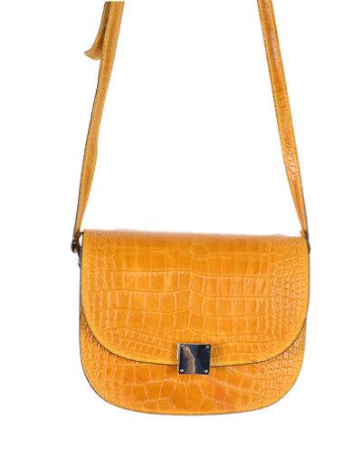 Leren-Tas-Half-Rond-Croco-oker geel gele leren-tasssen-crocoprint-tassen-leder-dames-kopen-schoudertassen-trends