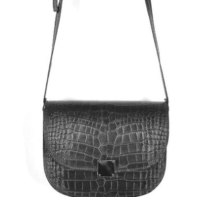 Leren-Tas-Half-Rond-Croco-zwart zwarte leren-tasssen-crocoprint-tassen-leder-dames-kopen-schoudertassen-trends