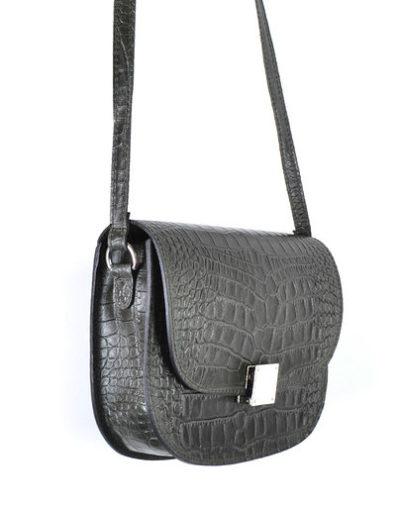 Leren-Tas-Half-Rond-Croco-zwart zwarte leren-tasssen-crocoprint-tassen-leder-dames-kopen-schoudertassen-trends side