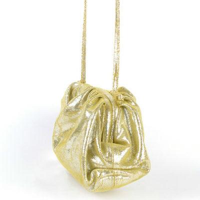 Leren Tas Shiney Long John goud gouden look a like tassen fashionbags leren pof tasjes kopen leder leer kopen