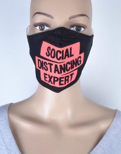 Mondkapje Social Distancing tekst print trendy uni kleurige mondkapjes bescherming mondmaskers leuke bescherming katoenen wasbaar