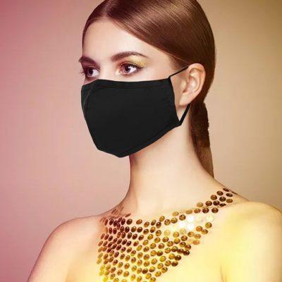 Mondkapje Zwart zwarte trendy uni kleurige mondkapjes bescherming mondmaskers leuke bescherming katoenen wasbaar
