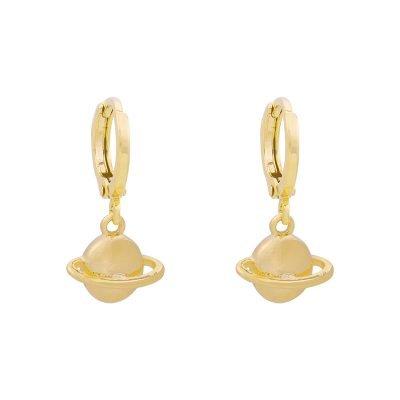 Oorbellen Saturn goud gouden oorbel planeten oorknopjes sieraden dames online kopen