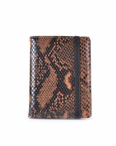 Paspoorthouder-Slangenprint-bruin bruine-snake-print-paspoort-mapje-houder-reisdocumenten-houder-kopen-