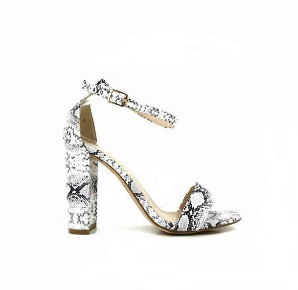 68b67721f88c3 Pumps Trendy Snake slangen print open dames hakken brede hak trendy dames  heels