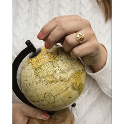 Ring Beautiful World goud gouden dames verstelbare ringen wereld detail kopen details
