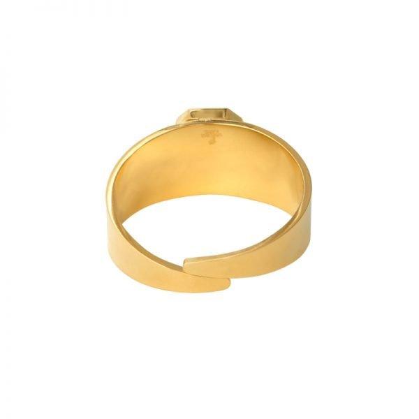 Ring Love Rocks goud gouden verstelbare ring groen groene steen fashion dames sieraden yehwang kopen achter