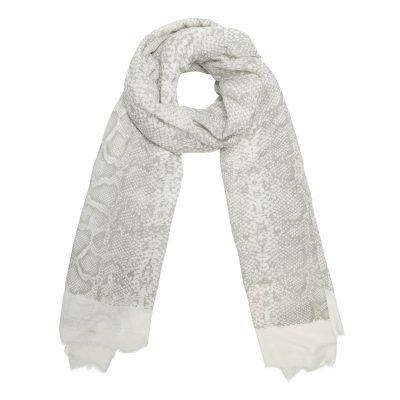 Sjaal Shiny Snake beige creme dames sjaals online kopen fashion bestellen