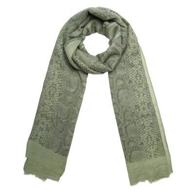 Sjaal Shiny Snake groen groene dames sjaals online kopen fashion bestellen