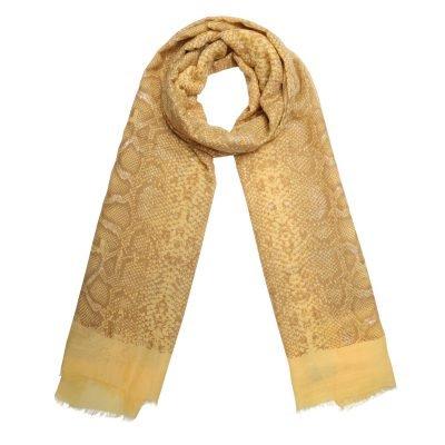 Sjaal Shiny Snake oker gele geel dames sjaals online kopen fashion bestellen