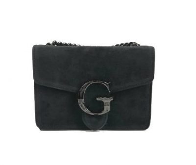 Suede Tas G zwart zwarte leren tassen guiliano luxe it bags kopen goedkoop fashion