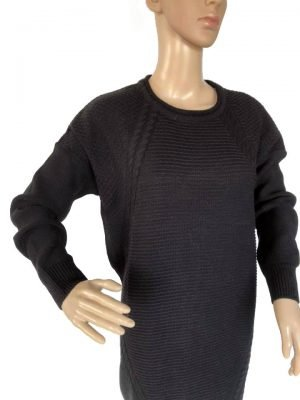 Sweater-Dress-Classy-zwart-zwarte-lange-gebreide-dames-jurken-sweater-jurken-musthave-fashion-kleding-bestellen-online-kopen-werk details