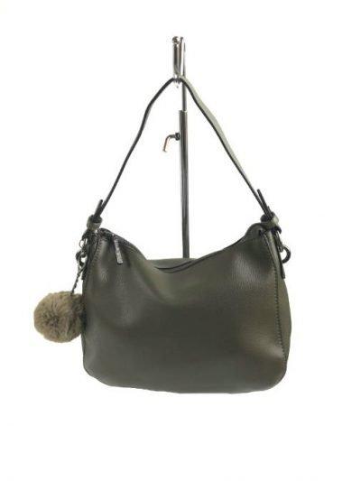 Tas Billy groen groene kunstleder tassen wollen bolletje tassenhengsel studs fashion tassen kopen luxe 1