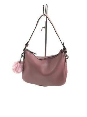 Tas Billy roze pink oud roze kunstleder tassen wollen bolletje tassenhengsel studs fashion tassen kopen luxe