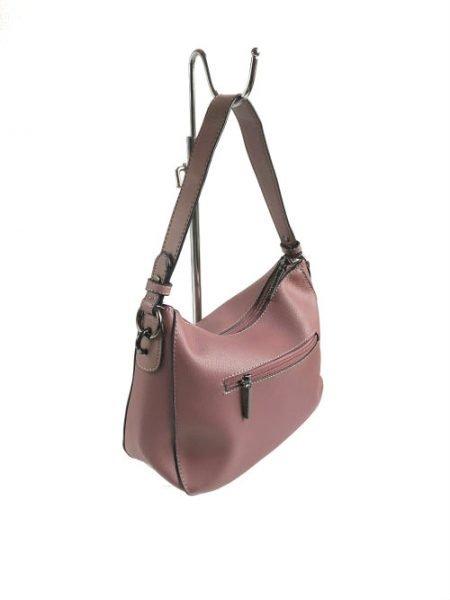 Tas Billy roze pink oud roze kunstleder tassen wollen bolletje tassenhengsel studs fashion tassen kopen side
