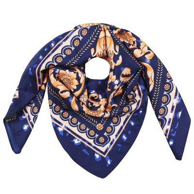 Zijden Sjaal Classic Leo blauw blauwe silk shalws dames sjaals online kopen bestellen f