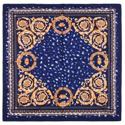 Zijden Sjaal Classic Leo blauw blauwe silk shalws dames sjaals online kopen vierkant