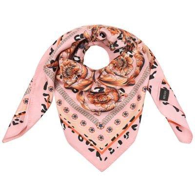 Zijden Sjaal Classic Leo roze pink silk shalws dames sjaals online kopen bestellen f