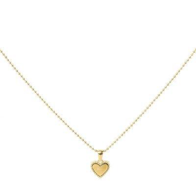 Ketting Hart Be Kind goud gouden dames ketting rvs tekst bedel fashion lovers kettingen online kopen