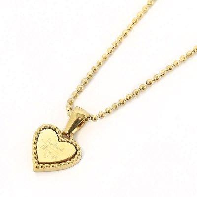 Ketting Hart Be Kind goud gouden dames ketting rvs tekst bedel fashion lovers kettingen online kopen detail