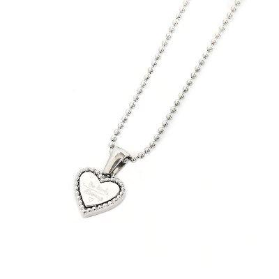 Ketting Hart Be Kind zilver zilveren dames ketting rvs tekst hart bedel fashion lovers kettingen online kopen