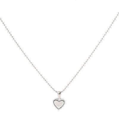 Ketting Hart Be Kind zilver zilveren dames ketting rvs tekst hart bedel fashion lovers kettingen online kopen bestellen