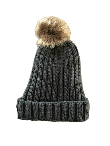Must-Winterproof-Beanie-donker grijs grijze-dames-mutsen-wollen-bolletje-warme-mustsen-beanies-online-bestellen-kopen-fashion