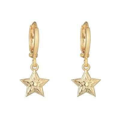 Oorbellen Sparkling Star goud gouden oorbel ster bedel fashion sieraden online dames kopen