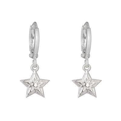 Oorbellen Sparkling Star zilver zilveren oorbel ster bedel fashion sieraden online dames kopen