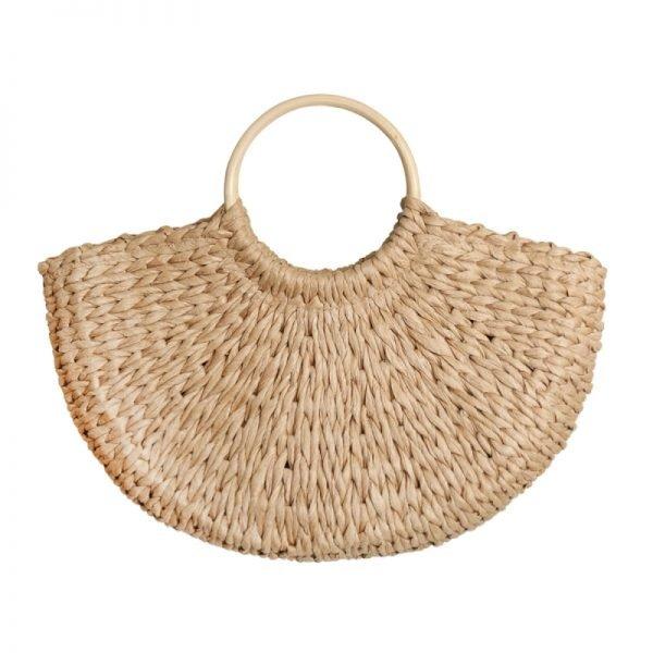 Rieten Tas Summer Vibes bruin bruine riet rotan strandtassen rattan tassen kopen bestellne