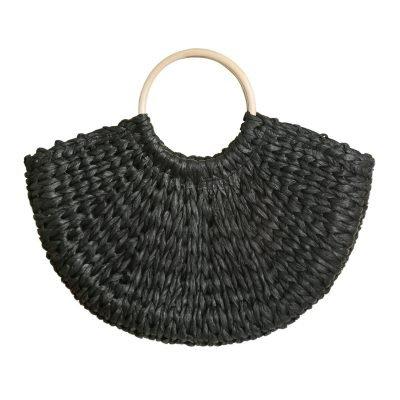 Rieten Tas Summer Vibes zwart zwarte riet rotan strandtassen rattan tassen kopen bestellne