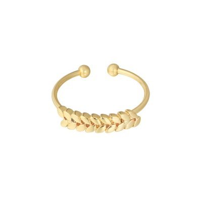 Ring Ceasar goud gouden open dames rvs ringen blaadjes design fashion sieraden dames kopen