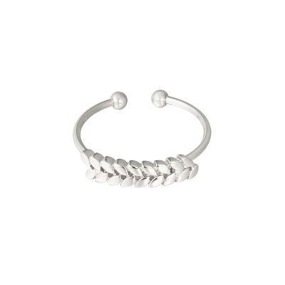 Ring Ceasar zilver zilveren open dames rvs ringen blaadjes design fashion sieraden dames kopen
