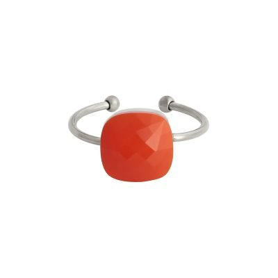 Ring Magic Stone oranje stenen zilveren