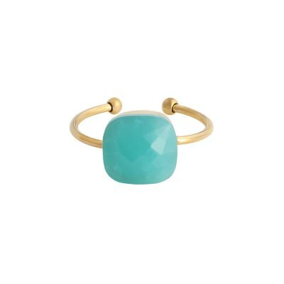 Ring Magic Stone turquoise mint stenen