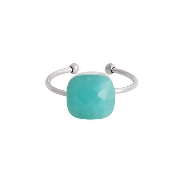 Ring Magic Stone turquoise stenen zilver