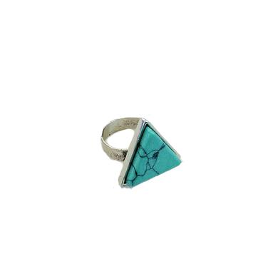 Ring Turquoise Marble zilver zilveren ringen dames sieraden driehoekige siersteen kopen bestellen trendy sieraden fashion