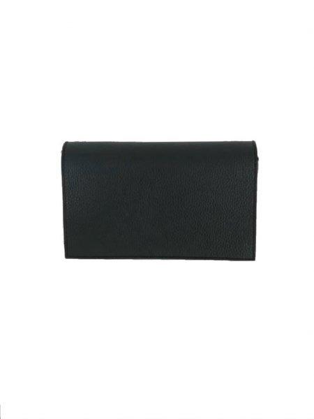 Schouder Clutch Tas Berry zwart zwarte schoudertassen clutch zilver slot kopen giuliano leder achter