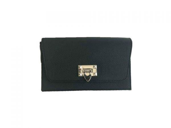 Schouder Clutch Tas Berry zwart zwarte schoudertassen clutch zilver slot kopen giuliano leder trendy
