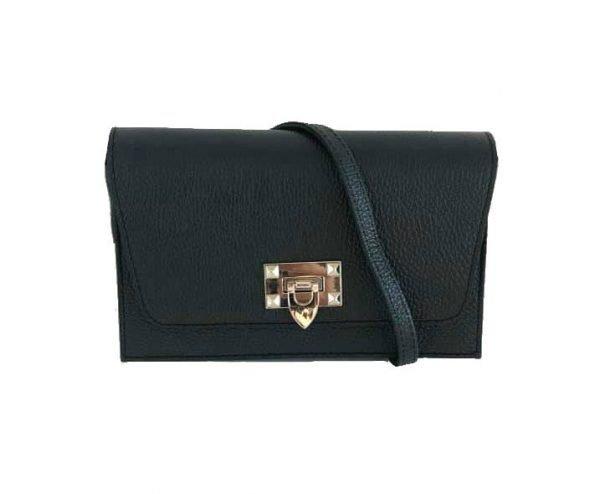 Schouder Clutch Tas Berry zwart zwarte schoudertassen hengsel clutch zilver slot kopen giuliano