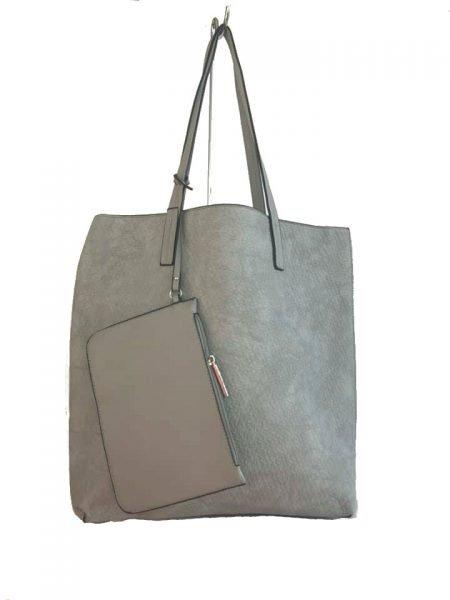 Shopper Misty grijs grijze shoppers tassen etui schooltassen tas kopen giulliano bestellen luxe