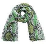 Sjaal Lovely Snakes groen groene dames sjaals sjaaltjes slangenprint snakeprint kopen bestellen
