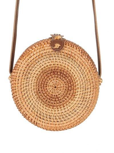 Tas Rattan Rond Rotan bruin bruine rieten zomer tassen fashion bags summer tassen tasjes