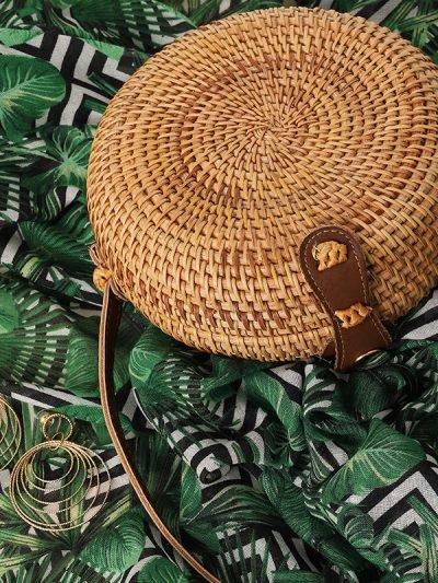 Tas Rattan Rond Rotan bruin bruine rieten zomer tassen fashion bags summer tassen tasjes kopen